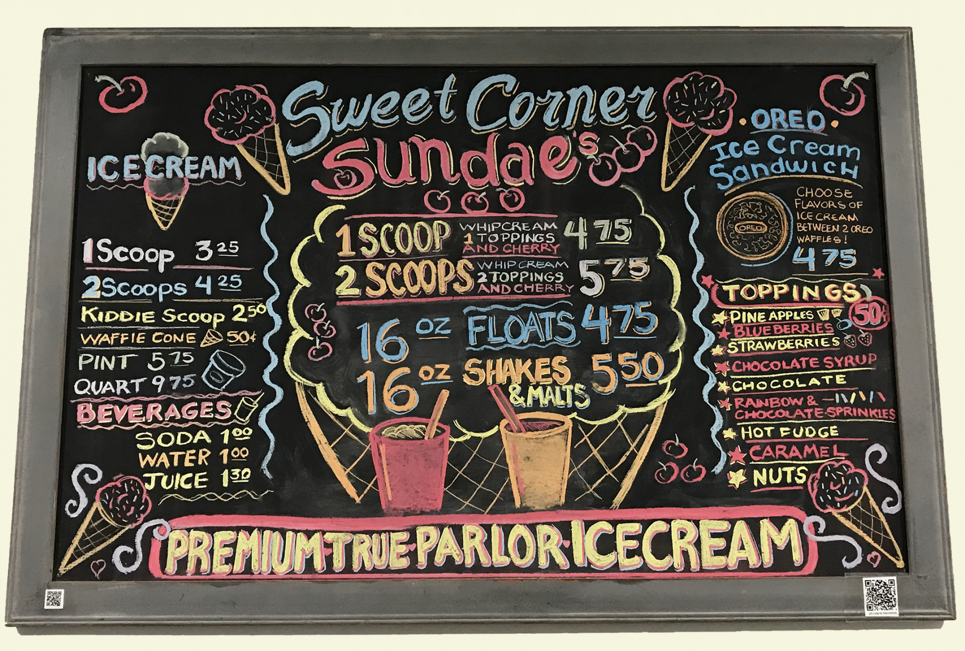 sweet corner ice cream, ice cream shop kenosha, kenosha ice cream parlor